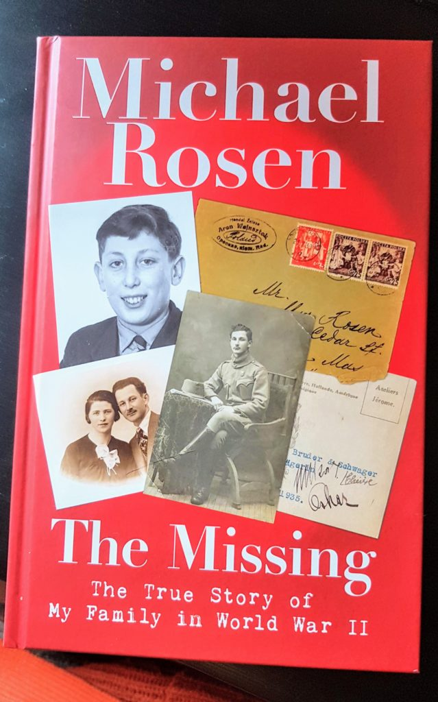 book cover, michael rosen - missing