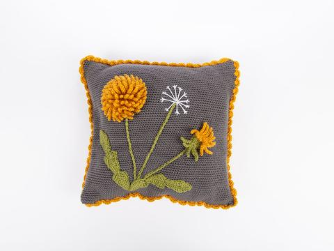 dandelion cushion crochet kit