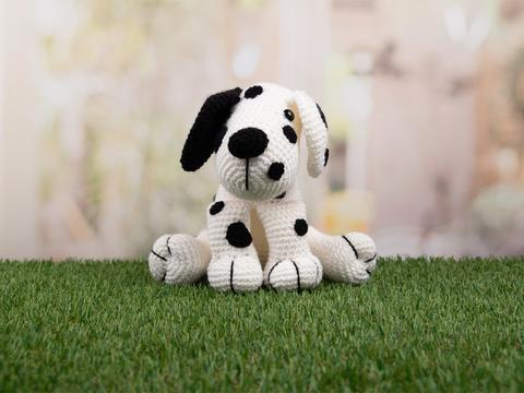 dakota the dalmatian crochet dog, amigurumi