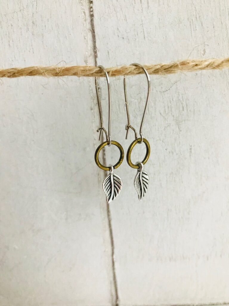 leaf ear rings