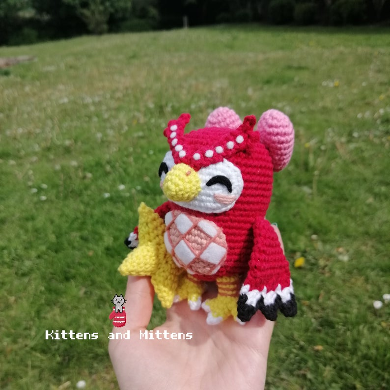 Celeste owl from animal crossing in crochet.