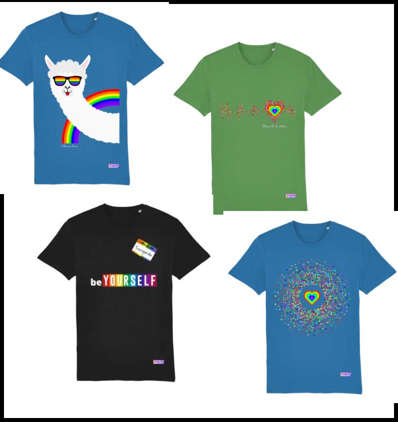 rainbow tee shirts for pride