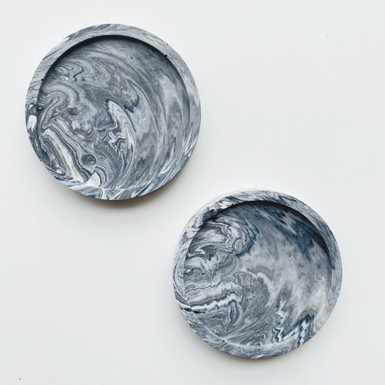 pretty marbled coasters