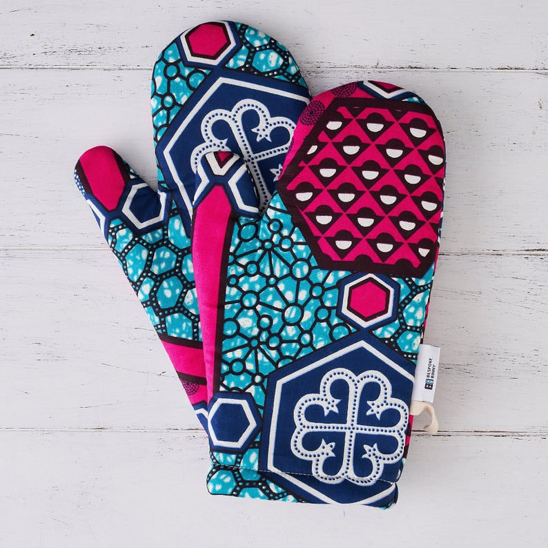 printed kitchen oven gloves