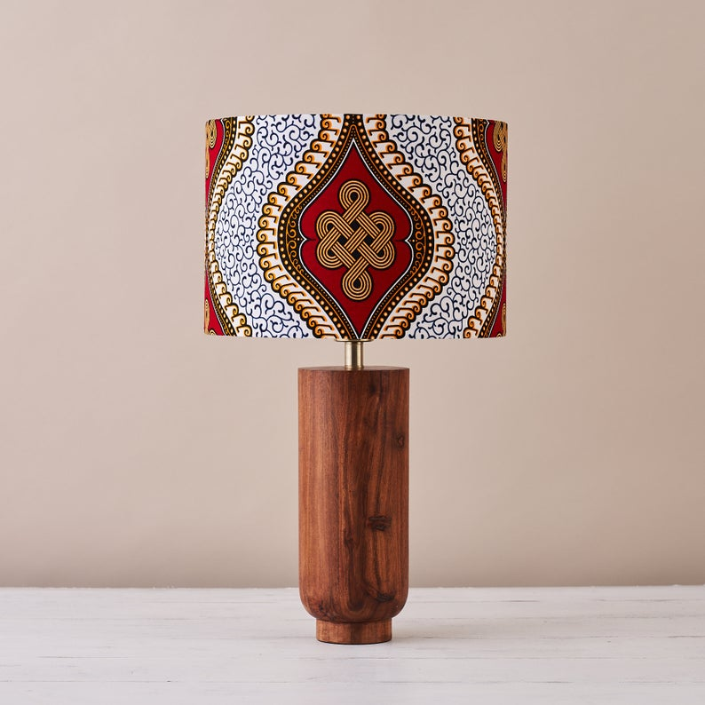 African print lampshade from Etsy.