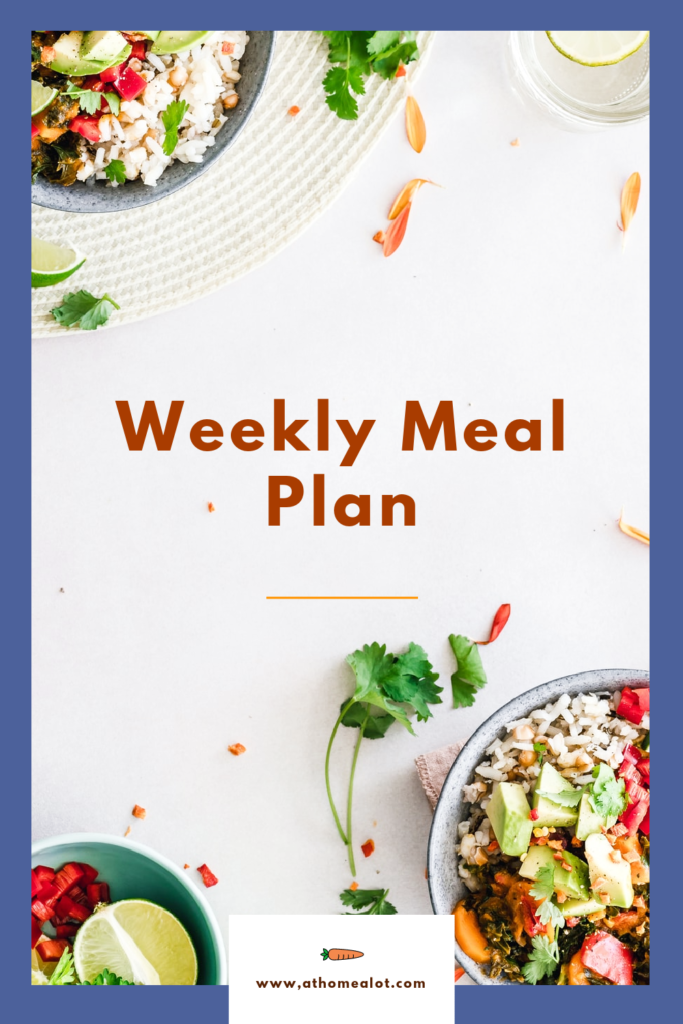 weekly meal plan poster