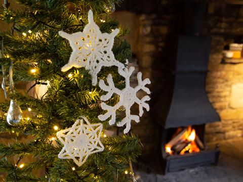 Christmas crochet snowflakes