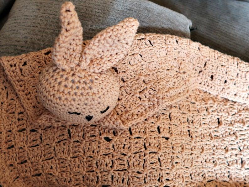 bunny head baby blanket