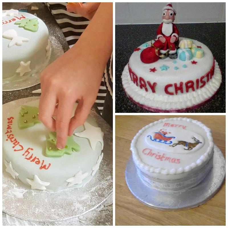 Christmas cake montage