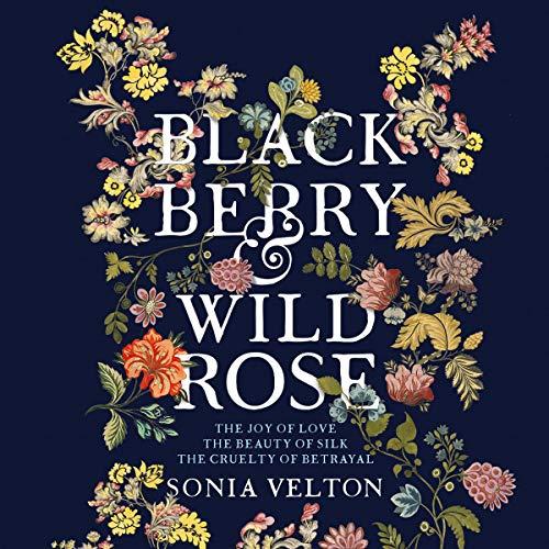 Blackberry and wild rose, bookcover. Dark backgroun
